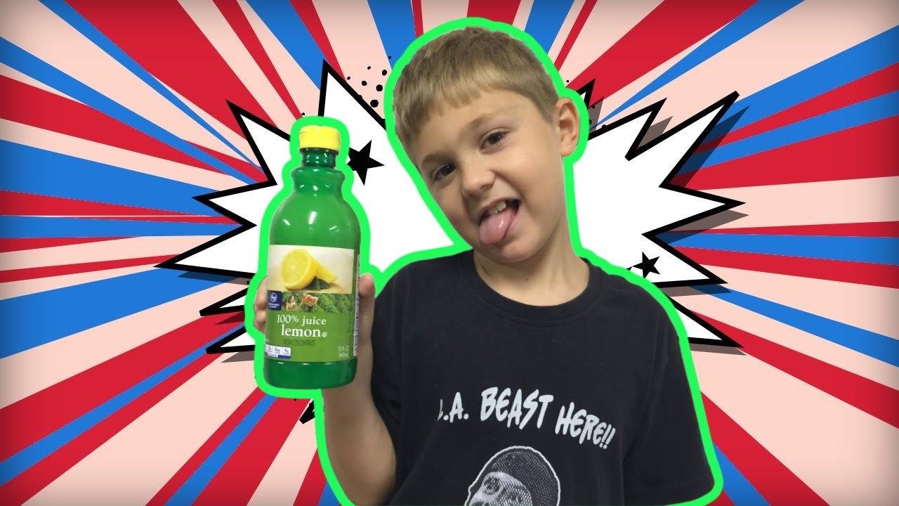 Vito the Kid Lemon Juice Challenge Thumbnail