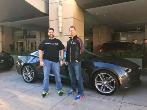Chris Frezza and Jason Port with 2016 Camaro